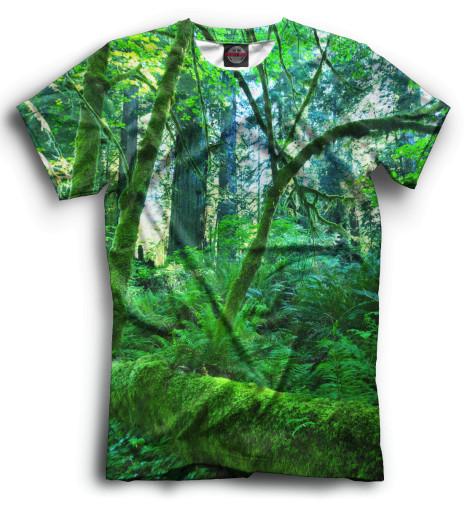 Мужская футболка Лес