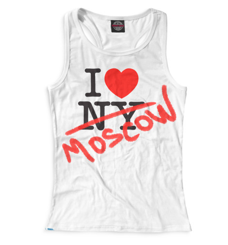 Женская майка-борцовка I Love Moscow