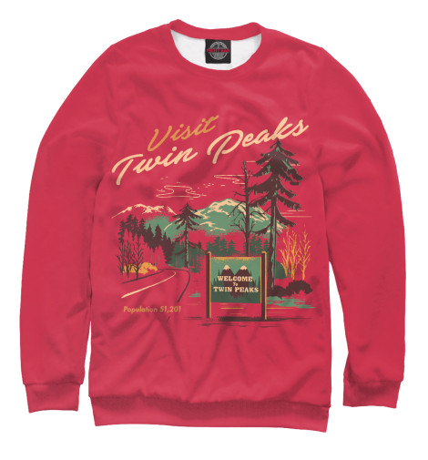 Свитшот Print Bar Visit Twin Peaks peaks run 105