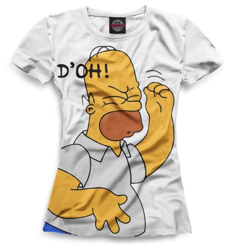 Женская футболка Гомер