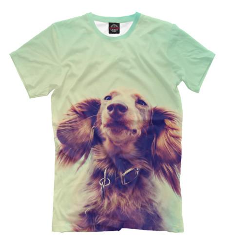 Мужская футболка Нежная такса DOG-442907-fut-2  - купить со скидкой