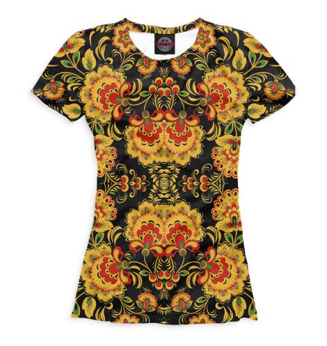 Женская футболка Хохлома