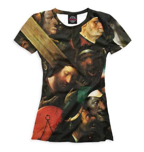 Женская футболка Несение креста