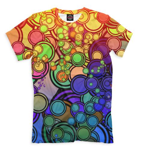 Мужская футболка Круги