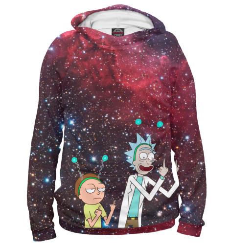 Купить Женское худи Rick and Morty символ мира RNM-889786-hud-1