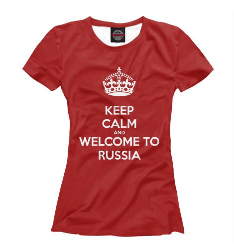 Футболка Print Bar Welcome to Russia свитшот print bar russia welcome
