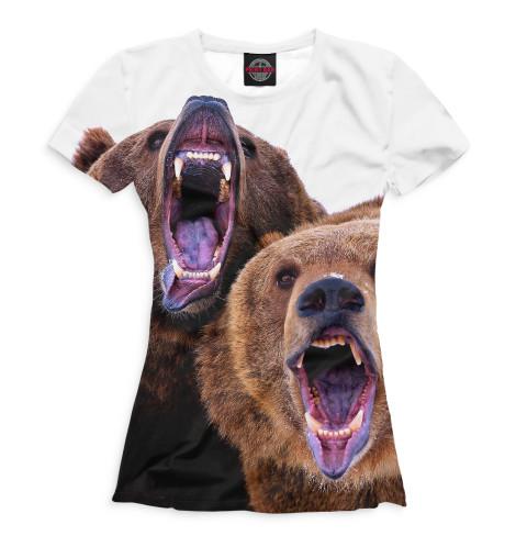 Женская футболка Медведи