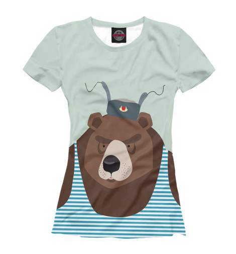 Футболка Print Bar Русский медведь