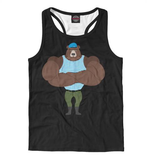 Майка борцовка Print Bar Медведь ВДВ свитшот print bar медведь вдв