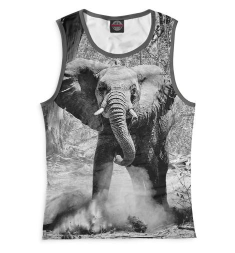 Женская майка Слоны