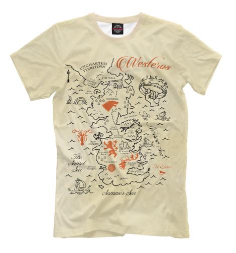 Мужская футболка Карта Вестероса IGR-749191-fut-2  - купить со скидкой