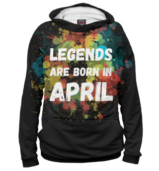 Мужское худи Legends are born in April