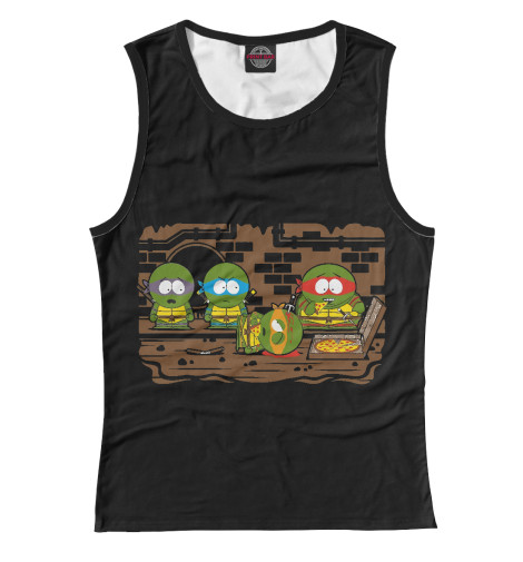 Майка Print Bar Turtles - South Park футболка print bar brooklyn turtles