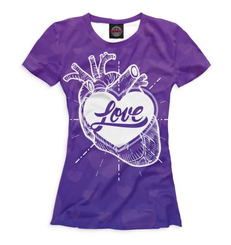 Женская футболка Любовь в сердце