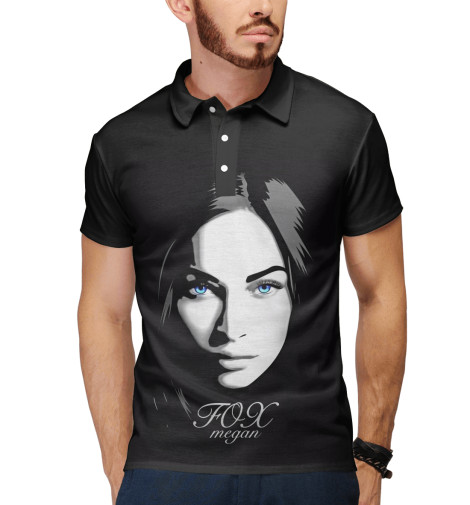 Поло Print Bar Megan Fox: Black glamour quadral aurum megan viii oak choco