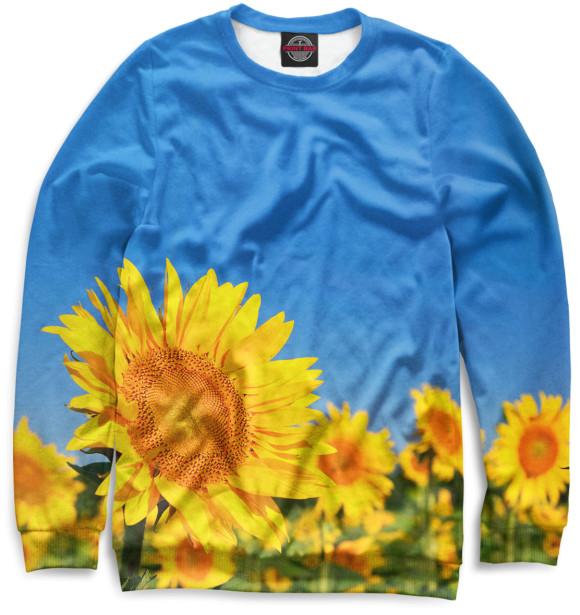 Купить Свитшот для девочек Цветы CVE-611180-swi-1
