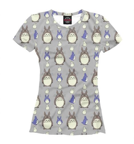 Фото - Женская футболка Totoro от Print Bar белого цвета