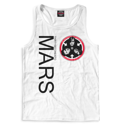 Майка борцовка Print Bar 30 Seconds to Mars майки 30 seconds to mars в минске