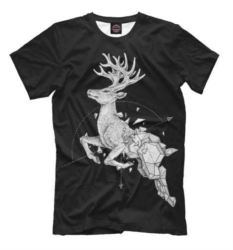 Футболка Print Bar Geometric dark deer футболка print bar dear deer