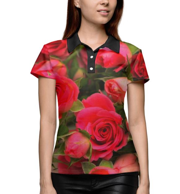 Купить Женское поло Розы CVE-107058-pol-1