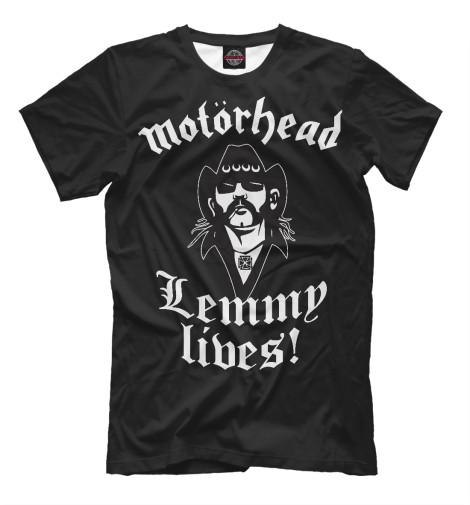 Купить Мужская футболка Motorhead. Lemmy Lives. MZK-447346-fut-2