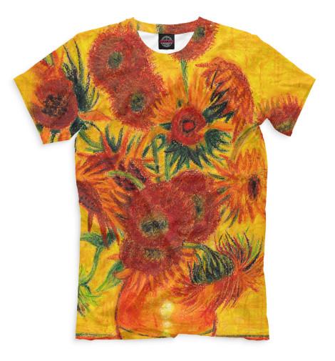 Мужская футболка Подсолнухи