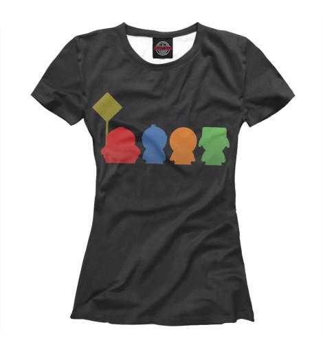 Фото - Женская футболка South Park от Print Bar белого цвета