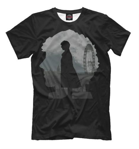Фото - Мужская футболка Шерлок от Print Bar белого цвета