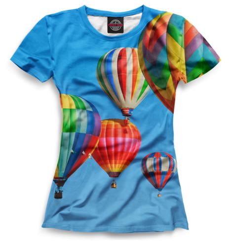 Женская футболка Воздушные шары
