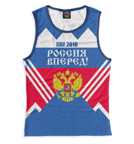 Женская майка Россия вперед! Print Bar HOK-926335-may-1