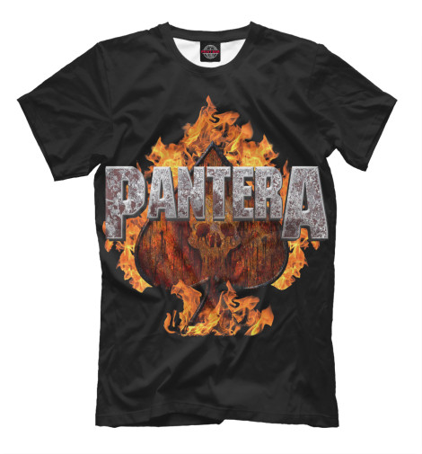 Футболка Print Bar Pantera Spades of Fire худи print bar pantera cowboys from hell