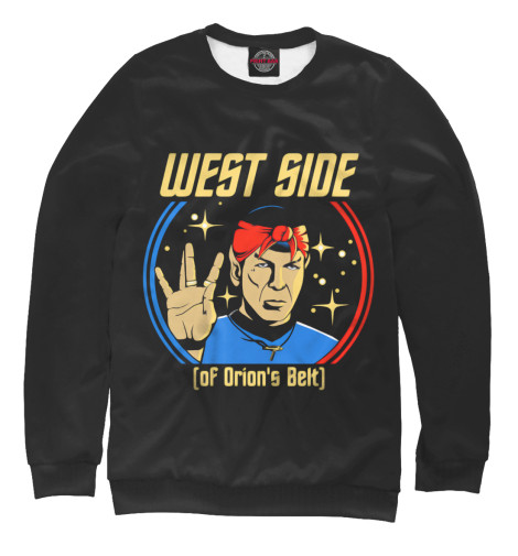 Свитшот Print Bar West Side (Spock) туфли nine west nwomaja 2015 1590