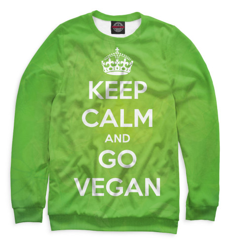 Свитшот Print Bar Keep Calm And Go Vegan свитшот print bar go vegan