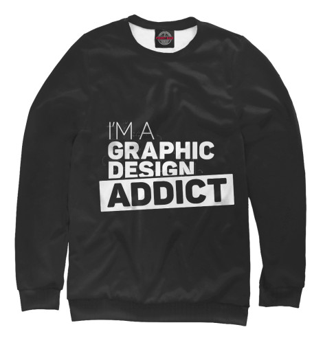 Свитшот Print Bar Graphic design addict graphic print fit