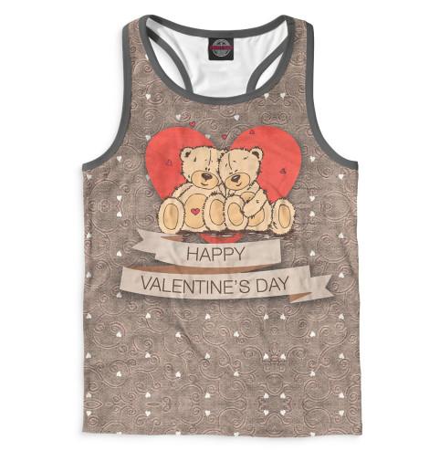 Майка борцовка Print Bar Happy Valentine's Day майка борцовка print bar the day is my enemy