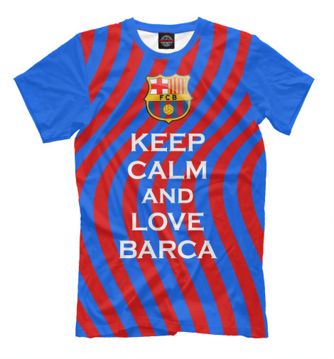 Футболка Print Bar Keep Calm and Love Barca футболка wearcraft premium printio keep calm and manezhka green