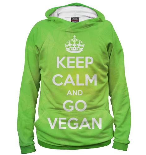 Худи Print Bar Keep Calm And Go Vegan свитшот print bar go vegan