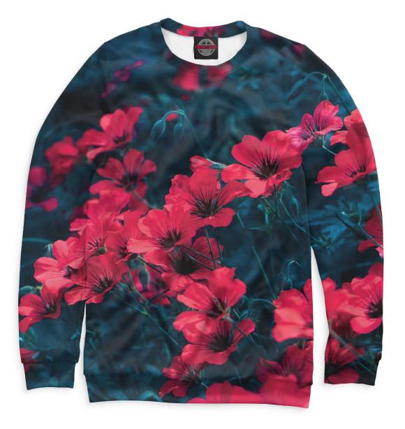 Купить Свитшот для девочек Цветы CVE-524108-swi-1