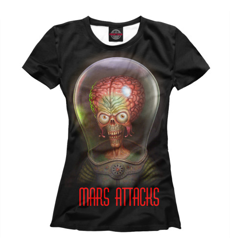 Футболка Print Bar MARS ATTACKS футболка print bar discover mars