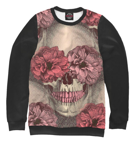 Свитшот Print Bar Flowers and skull свитшот print bar pantera skull and snake
