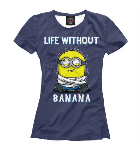 Купить Футболка для девочек Жизнь без банана MIN-591761-fut-1