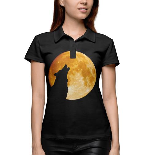 где купить Поло Print Bar Волк воет на луну по лучшей цене