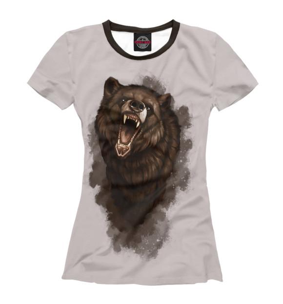 Купить Женская футболка Бурый медведь MED-521009-fut-1