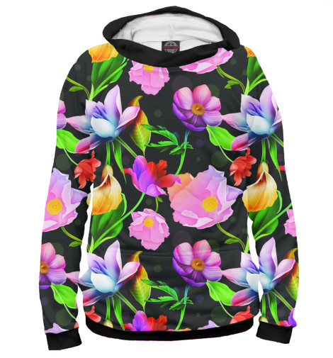 Худи Print Bar Яркие Цветы майка print bar яркие цветы
