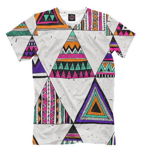 Фото - Мужская футболка Индейские мотивы от Print Bar белого цвета
