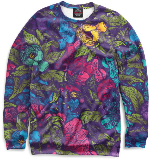 Купить Свитшот для девочек Цветы CVE-519116-swi-1