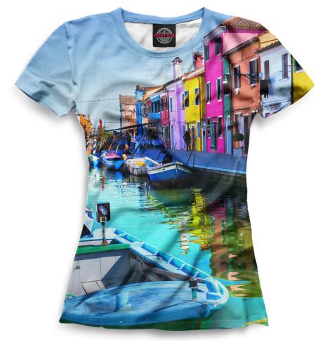 Женская футболка Венеция