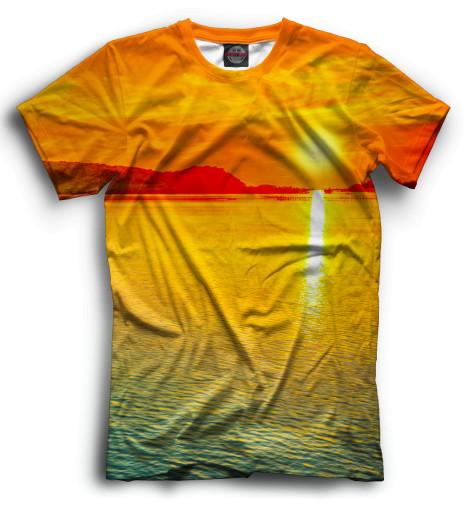 Мужская футболка Закат