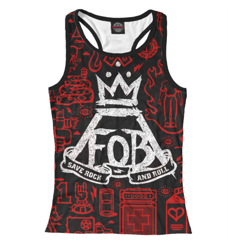 Майка борцовка Print Bar Fall Out Boy худи print bar fall out boy