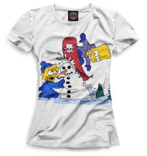 Женская футболка Барт и Лиза